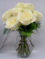 Dozen White Roses from Clark Flower and Gift Shop in Clark, SD