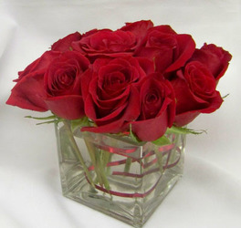 Petite Dozen Red Roses  from Clark Flower and Gift Shop in Clark, SD