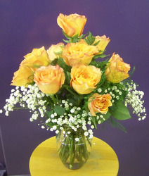 Dozen Orange Roses from Clark Flower and Gift Shop in Clark, SD