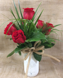 Half Dozen Red Roses from Clark Flower and Gift Shop in Clark, SD