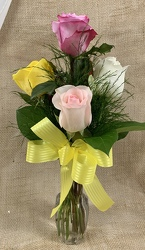 Half Dozen Yellow Roses from Clark Flower and Gift Shop in Clark, SD