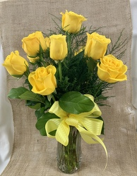 Dozen Yellow Roses from Clark Flower and Gift Shop in Clark, SD
