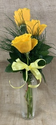 Yellow Rose Trio from Clark Flower and Gift Shop in Clark, SD